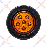 "2.5"" Round 6 LED Light Truck Trailer Side Marker Clearance Kit 5 Red & 5 Amber"