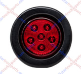 "2.5"" Round 6 LED Light Truck Trailer Side Marker Clearance Kit 3 Red & 3 Amber"