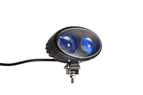 "5.5"" 8W CREE Blue LED Forklift Safety Light Spot Light Warehouse Safe Warning Light, 12V-24V LED, 250LM - All Star Truck Parts"