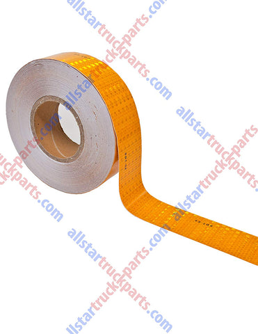 "Yellow/Orange DOT-C2 Reflective Tape Conspiciuity Tape - COMMERCIAL ROLL, HIGH INTENSITY, STRONG ADHESIVE- 2"" inch x 150' FEET - Truck Boat Trailer Semi Parking Construction Safety Night Visibility Bicycle Racks Equipment Steps Warehouse Floor Caution - All Star Truck Parts"