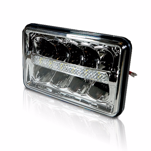 "4""x6"" LED H4656 CRYSTAL CLEAR SEALED BEAM HEADLAMP HEADLIGHT 4x6 DRL 6000K Qty 4 - All Star Truck Parts"