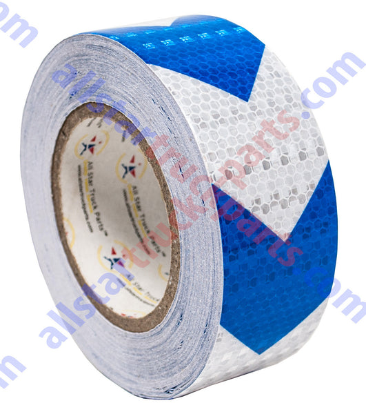 "*Reflective Conspicuity Tape 2/""x150/' Warning Sign Safety Car Truck RV Boat Blue"