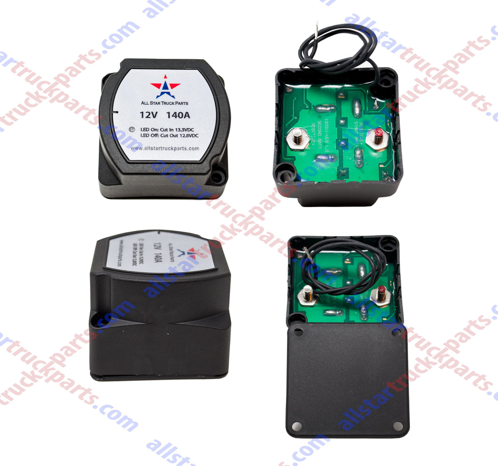 [ALL STAR TRUCK PARTS] 12V 140 Amp Dual Battery Smart Isolator - VSR - Voltage Sensitive Relay Specially Designed for ATV, UTV, Boats, RV's, Campers 5th Wheels Off Road Vehicles Rhino Polar … - All Star Truck Parts