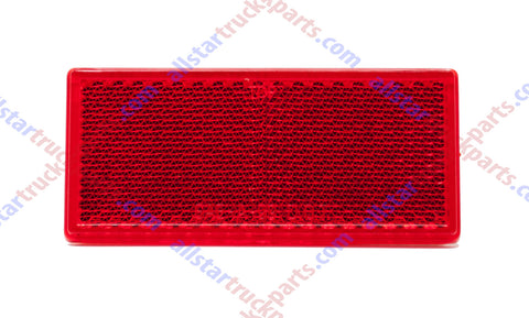 "3-1/8"" Rectangular Red/Amber Stick On Reflector - Trailers, Trucks, Automobiles, Mail Boxes, Boats, SUV's, RV's, Industrial Strong Adhesive DOT/SAE Approved"