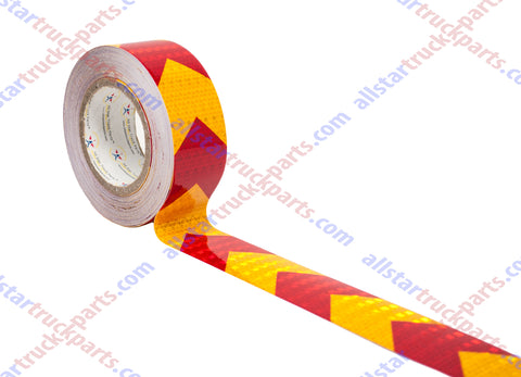 2/'/' Reflective Safety Warning Arrow Conspicuity Tape Yellow Hazard Warning Tape