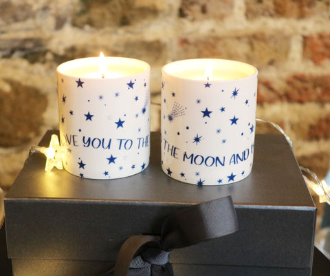 Love You to The Moon and Back Single Candle