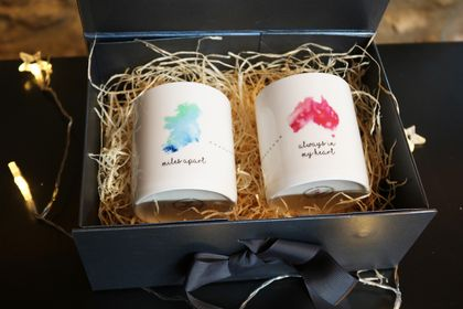 Miles Apart Australia Set of 2 Candles in Giftbox