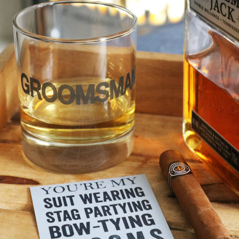 Groomsman Glass Tumbler