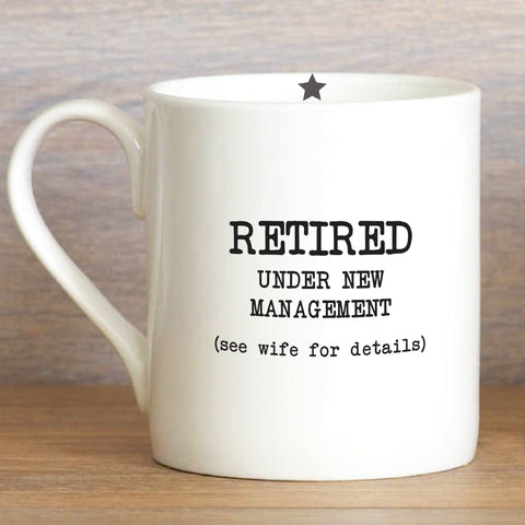 Retired Under New Management - Large Mug