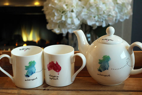 Miles Apart Ireland to Oz Teapot