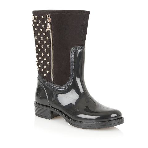 Posh Wellies Black Aptitude Rainboots