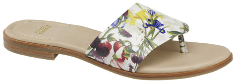 Raney floral leather sandal