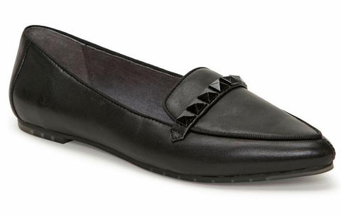 Alexis black pointy toe flats