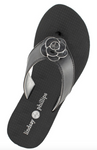 Allie black flip flops