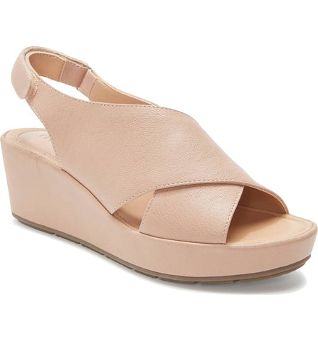 Arena nude wedge sandals