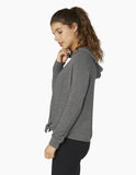 Brushed up tied up hoodie in heather grey