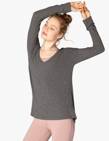 Lounge around pullover in charcoal gray