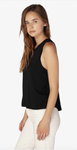 Balanced muscle tank in black