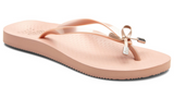 Beach Bells Noosa rose gold flip flops