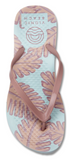 Beach Noosa light blue/pink palm flip flops
