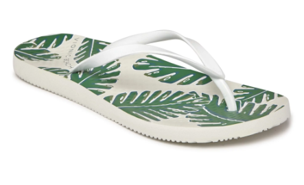 Beach Noosa white palm flip flops