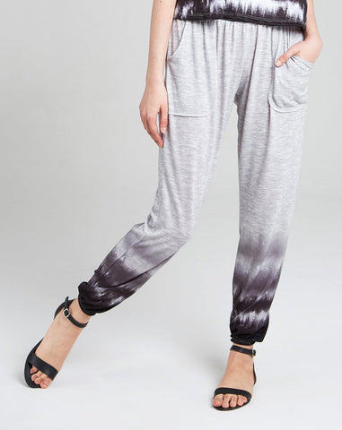 Black dip dye lounge pants
