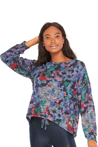 Multi colored camo long sleeve top