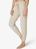 Brushed up midi jogger in oatmeal heather