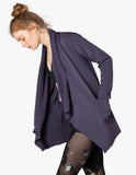Everyday drape cardigan in amethyst