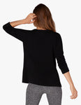 Sedona wide hem pullover in black