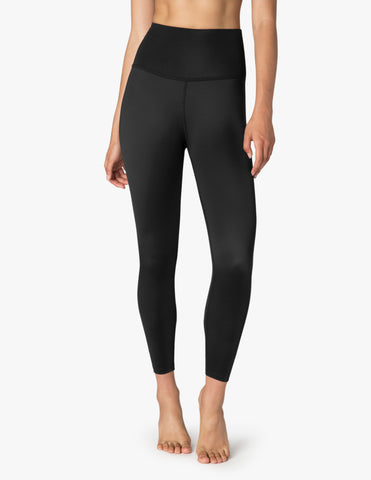 Compression lux high waisted midi leggings in black