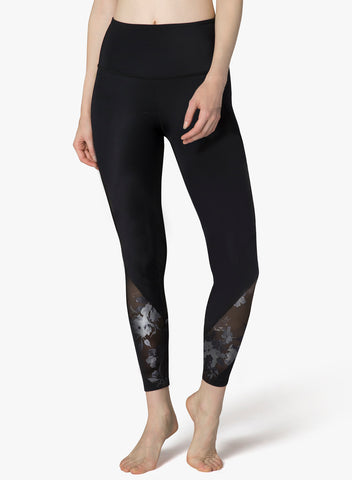 Compression extend high waisted midi leggings in black