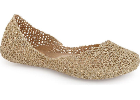 Campana papel glittery ballet flats in gold