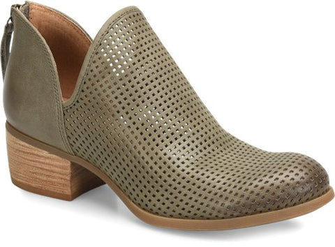Canobie perf booties in pale olive