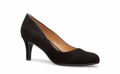 Carissa Black Patent Leather Low Heels