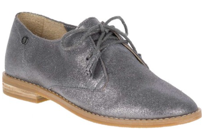 Chardon dark grey metallic oxfords