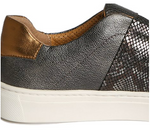 Commuter slip-on sneakers in pewter