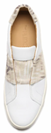 Commuter slip-on sneakers in white & sand katrin zebra