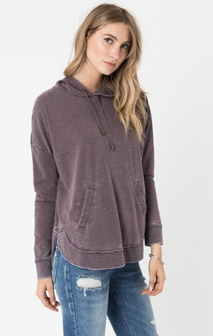Dakota pullover hoodie in raisin