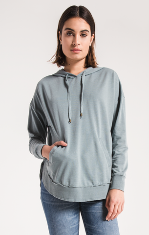 Dakota pullover hoodie in Sea Green