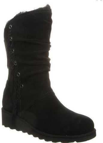 Dana neverwet black wedge boots
