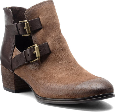 Darnell Havana Brown Suede Booties