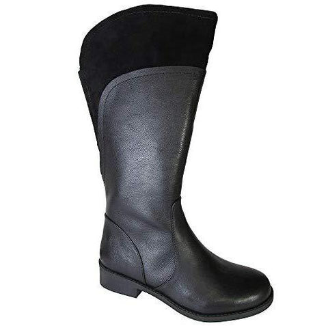 Delancy Black Leather Tall Boots