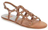Draycen tan leather cage sandals