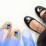 Tracey royal blue interchangeable ballet flats
