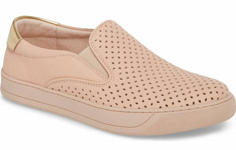 Elaine perforated slip-on sneakers in blush