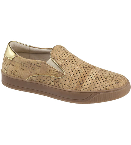 Elaine perforated slip-on sneakers in cork