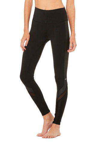 High waisted elevate legging in black