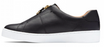 Ellis black slip on sneakers
