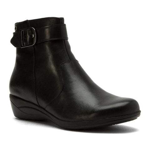 Ethel Olena Black Waterproof Wedge Booties